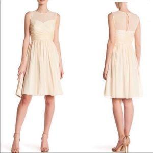 J. Crew Cream Clara Dress in Silk Chiffon Size 2
